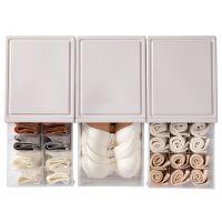 家用内衣收纳盒抽屉式塑料透明装内裤袜子置物箱文胸盒收纳整理箱