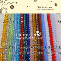 DIY水晶珠子扁珠水晶散珠手工串珠材料6mm扁珠/车轮珠串珠配件