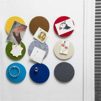 洪客 韩国正品创意圆形毛毡装饰墙贴多功能家居彩色装饰板