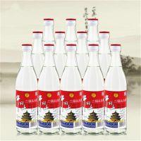 牛栏山二锅头52度牛栏山白瓶清香型500ml*12瓶白酒整箱白瓶正品