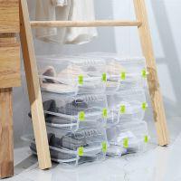 厚大号水晶鞋盒透明鞋盒鞋子整理收纳盒塑料鞋盒子