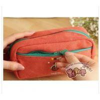 厂家直销韩版文具帆布笔袋 多功能笔袋 大容量风做旧复古大笔袋