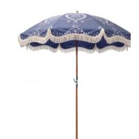 木杆流苏伞、沙滩流苏伞定制
