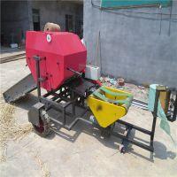 青贮打捆包膜设备秸秆小麦杆压实打捆机物料保鲜包膜机