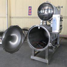 全自动双层热水循环酱牛肉杀菌锅
