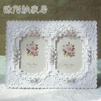 3.5寸韩版组合相框/欧式浮雕花纹相框/婚纱照片相框/宝宝家庭相框