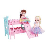 梵嘉迪6935搪胶娃娃彩虹公主卧室过家家豪华套装儿童女孩公仔玩具