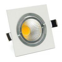 直流12V方形LED天花灯方板系列嵌入式LED格栅灯COB方形LED天花灯