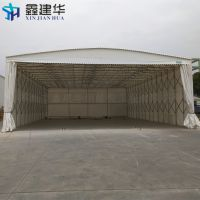 尚湖镇可以收缩的雨棚布 海鲜烧烤大排档帐篷 轨道式仓库遮阳蓬专业制作