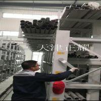 移动式钢材货架里的型材 原材料 管材 棒料 轴 圆钢 方管 扁钢伸出直接吊车存放