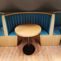 倍斯特简约时尚热销木饰面弧形卡座创意中餐茶餐厅厂家定制