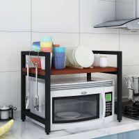 微波炉架子厨房置物架2层收纳架烤箱架双层储物架子微波炉置物架