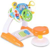 宝丽1712音乐模拟驾驶室婴儿多功能游戏桌1-3岁益智方向盘学习桌