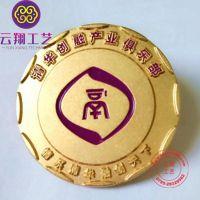 北京清华胸章定做 高端礼品纯金胸针定做厂家 广州徽章制作