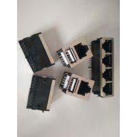 RJ45+白色USB2.0网络接口面板直通式-纬力