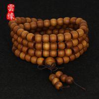 芭比檀香苹果珠 圆形桶珠佛珠念珠108颗手链 檀香木批发热卖货源