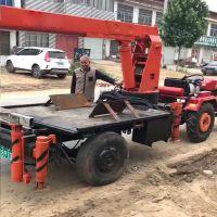 8吨拖拉机平板吊集装箱 东方红改装5吨随车吊 富中厂家定做吊机