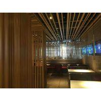 复古门窗木纹铝花格订制中心