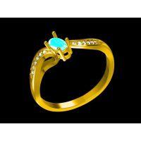 翡翠订婚戒指企业定制 戒指壁纸 带金戒指洗手—粉晶饰品加工厂家
