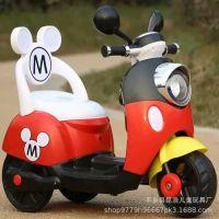 新款儿童电动摩托车电动三轮车小孩电瓶车童车小木兰充电踏板车