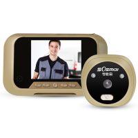 万事威智能电子夜视猫眼门铃摄像头防盗门监控高清录像仪家用门镜