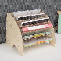 新木质多层办公桌面收纳档案分类架架书架浴室收纳架脸盆收纳架拖