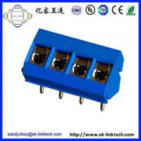 广东定制 5.0mm弹片式PCB接线端子工控安防连接器