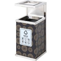 创意户外垃圾桶 不锈钢垃圾桶分类方形垃圾箱批发定制 众创美景