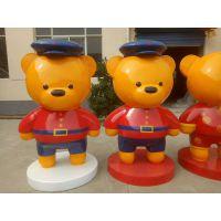 苏州 玻璃钢雕塑 工艺画 卡通 泰迪熊 模型 厂家直销