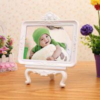 厂家批发塑料欧式摆台儿童画架婚纱照照片框注塑7寸相框