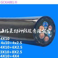 赤壁市垃圾吊电厂行车控制动力卷筒电缆抓斗起重机电缆4X10+6X2.5