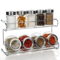 厨房用品玻璃调味瓶罐套装烧烤调料罐调味罐子密封2层调料盒套装
