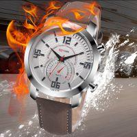 热卖 欧美大牌男士商务休闲仿水石英腕表 真皮手表霸男运动手表