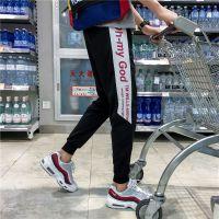 裤子男韩版潮流9九分裤修身休闲裤男夏季薄款小脚束脚运动裤长裤