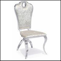 厂家批发时尚不锈钢餐椅 五金椅子家具 软包凳子酒店餐椅