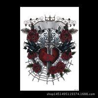 厂家供应仿真花臂纹身贴 玫瑰图案防水纹身贴纸批发定制
