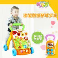 婴儿调速多功能音乐灯光学步车 益智启蒙安全防侧滑宝宝助步车