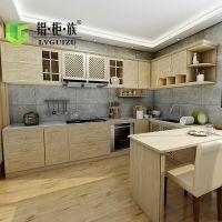 全铝厨房柜吊柜地柜 铝合金壁柜高端橱柜 全铝整体厨房壁柜工厂直销