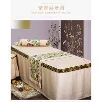热卖厂家直销简约中国风美容床罩四件套按摩会所床上用品订做