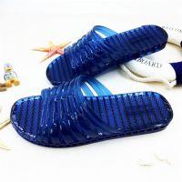 夏季塑料拖鞋男士居家用防臭浴室洗澡防滑水晶透明室内空调凉拖鞋