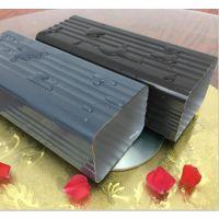 成品天沟彩铝 方形雨水管铝合金 落水管 排水槽安装 美迪豪厂家报价