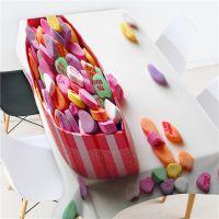 甜蜜七夕糖果系列家用桌布 电视机盖布 钢琴盖布 厂家高端定制
