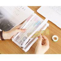 笔袋纯色中小学生系列男女生奖品网状铅笔铅笔盒透明网纱开学袋子