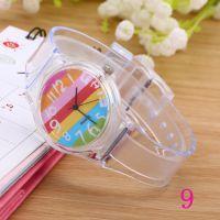 成品现货透明原宿风果冻色手表 小清新学生卡通表男女手表