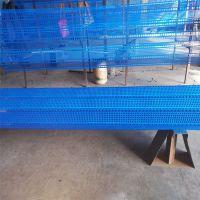 煤场挡风墙 圆孔防风抑尘网 蓝色防尘板