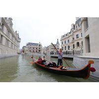 大连东方水城游船 威尼斯贡多拉船 木船厂家定制船 欧式风情
