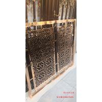 客厅过道玄关 纯铜屏风赋予新艺术装饰