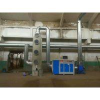 泊头湫鸿环保 PP喷淋塔一体机套装造粒废气处理净化器设备 生产厂家