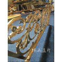 滁州仿铜铜艺楼梯护栏