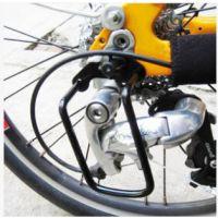 山地车后拨保护器护拔架 变速器保护架 自行车后拔配件 黑色